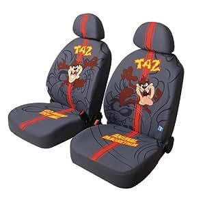 Motionperformance Essentials Genuine Looney Tunes Taz (Tasmanian Devil) Anthracite Front Seat Covers - Dark Grey