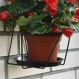 Brema support pot de fleurs noir 22cm 123672v