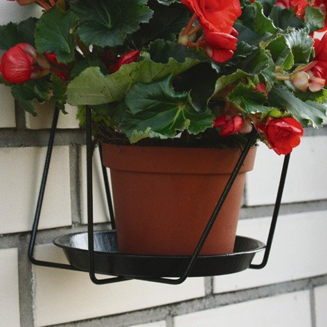 Brema classic 123672 portavasi per fiori, fissato al muro, nero