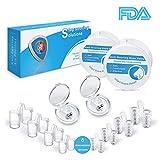 Schnarchstopper Nasenklammer & Nasepreizer, Verbessertes Konzept Premium Anti Schnarch Mittel Nasendilatatoren mit antibakterieller und praktischer Aufbewahrungsbox (8+2 Stück)