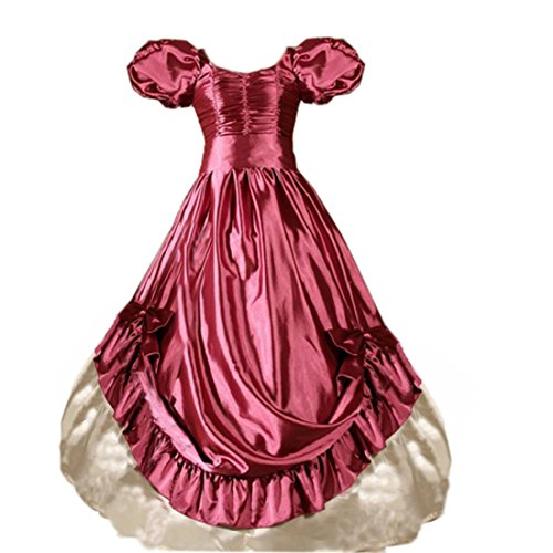 partiss Taille Plus Femme Manches Courtes Volants bowknot robe longue robe Rose - Rose