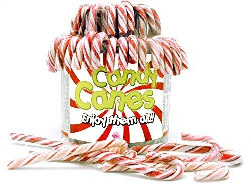 Candy Canes - Zuckerstangen rot-weiß - 72St/1kg (Cane Große Candy)