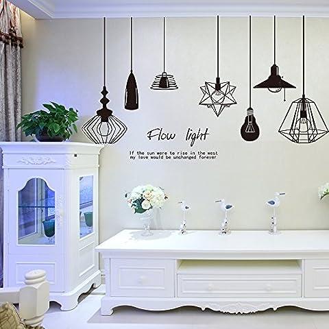 Semplice parete adesivo moda wall sticker decorativi adesivi , personality pendant lamp , super