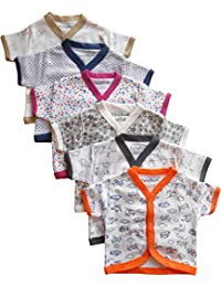 691df5c88664b NammaBaby Cotton Front Open Half Sleeves JHABLA Summer Vest- Tshirt -Multi  Print Multicolour Set