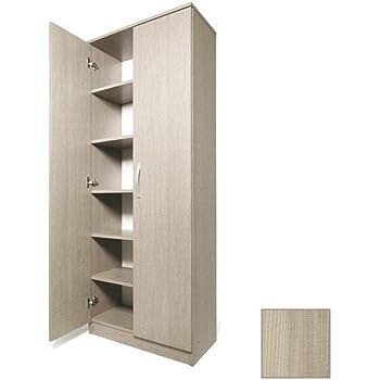 Composad scarpiera armadio colonna acero 2ante con mensole - Emporio del mobile in kit ...