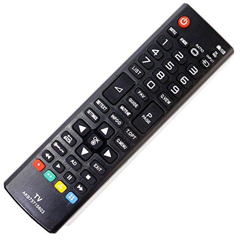 allimity AKB73715603 Reemplace el ajuste del mando a distancia para LG 42LN540B 32LN540B 32LN520B 32LN5400 39LN5400 37LN540B 42PN450B 32LN550B 50LN5400 47LN540B 42LN5400 50PN450B 42LN550B 47LN5400 50PN6500 60PN6500 TV