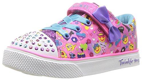 Skechers Baby Mädchen Twinkle Breeze 2.0-Character Sneaker, Mehrfarbig (Hot Pink/Multicolour), 21 EU -