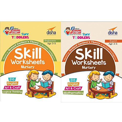 Perfect Genius Tiny Toddlers Skill Based Worksheets for Nursery - Science, Maths, Art, Craft, English (Ages 3-5)