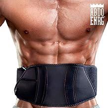 El original Abdo ENRG TDT-Cinturón con aparato de electroestimulación tonificante muscular digital con pulsación de baja frecuencia con triple contacto-Banda de estimulación spefica de musculación y laterales-rassoda tonifica allena, y