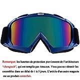 Sijueam Lunettes de Protection de Yeux Visage Masque pour sport de plein air Anti-UV...