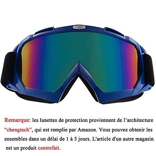 Sijueam Lunettes de Protection de Yeux Visage Masque pour sport de plein air Anti-UV coupe-vent Anti-sable Anti-poussière pour Activités Extérieures vélo Moto Cross VTT Ski Snowboard Cyclisme Gogg