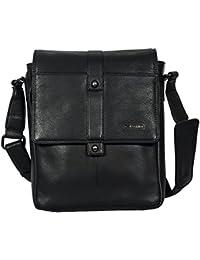 Genuine Leather Men's Cross Body Bag-Men's Messenger Bag-Men's Leather Office Bag-Men's Black Leather Shoulder...