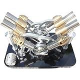 Lieyang motor Stirling con cuatro cilindros de aire caliente, modelo generador eléctrico, grupo M16-V4-D
