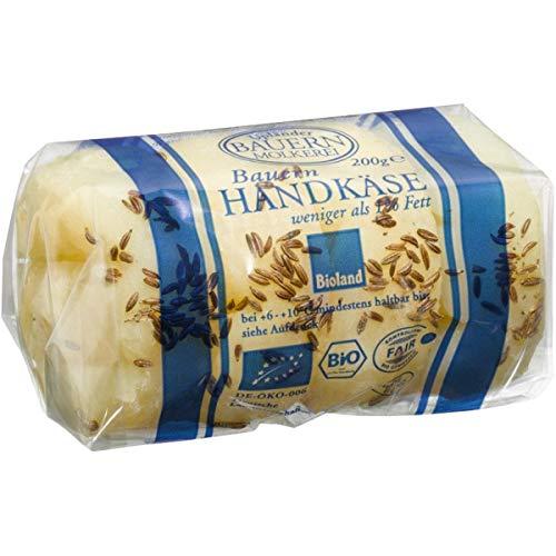 Upländer Bauernmolkerei Bauern-Handkäse mit Kümmel inkl. Kühlverpackung (200 g) - Bio