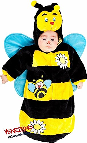 en Plüsch Baby Jungen Mädchen Bumble Bee Schlafsack Sack Kinderzimmer Betten Fancy Kleid Kostüm Outfit 0–3Monate (Bumble Bee Kostüm Für Jungen)