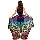 Schmetterlingsflügel Schal Sondereu Damen Schmetterling Wings Schals Nymphe Pixie Kostüm Zubehör 180 x145cm (10) -