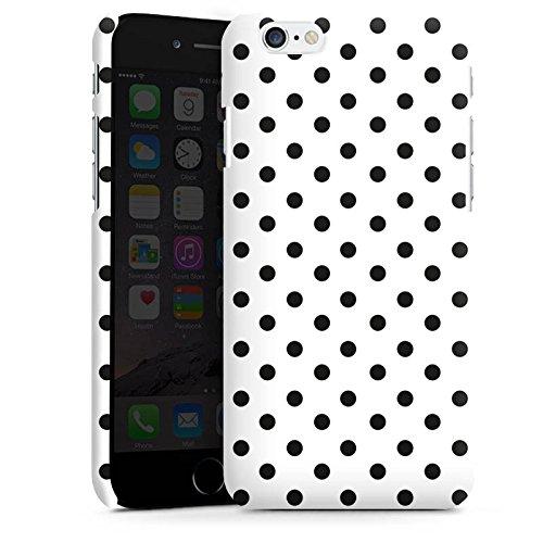 Apple iPhone X Silikon Hülle Case Schutzhülle Polka Punkte Schwarz-Weiß Muster Premium Case matt