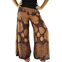 5d91a6406f5b virblatt Leggeri Pantaloni Estivi Pantaloni Palazzo per la Donna Taglia  Unica S-L Pantaloni Larghi Come Abbigliamento