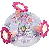 Elobra Kinderzimmerlampe Prinzessin Lillifee Ballonschaukel, Wand- und Deckenleuchte, Holz, rosa, 130926
