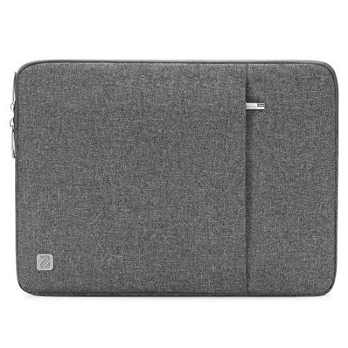 nidoo wasserabweisend leicht 35,6cm Laptop Sleeve Tablet Schutzhülle Aktentasche tragbar Tragetasche mit Reißverschluss Computer Haut PU, grau 10.1 Slip-fit Sleeve