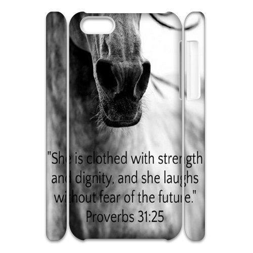 Horse iPhone 5C 3D case, Customized Phone case for iPhone 5C Horse, Customized Horse Cover case (5c Phone Cases)