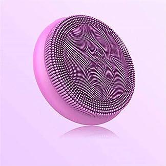 Cepillo de limpieza eléctrico Limpiador facial de silicona vibrante Carga de 5 poros instrumento de limpieza eléctrico limpio@Azul