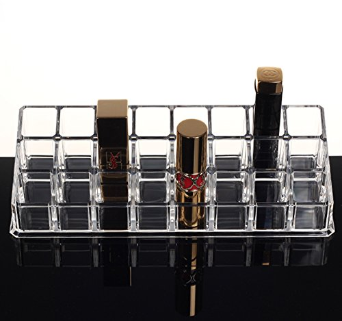 PuTwo Lipstick Holder Makeup 24 Section Organizer Lipstick Organizer Cosmetics Organizer, 259 Gram