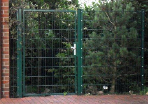 Hoftor Gartentor Einfahrtstor Tor grün beschichtet Breite 100cm x Höhe 140cm