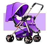 Poussettes pliables portatives ultra-légères de bébé à quatre roues d'enfants de...