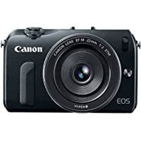 Canon EOS M 18.0 MP Compact Systems Camera with 3.0-Inch LCD and EF-M 22mm STM Lens Black