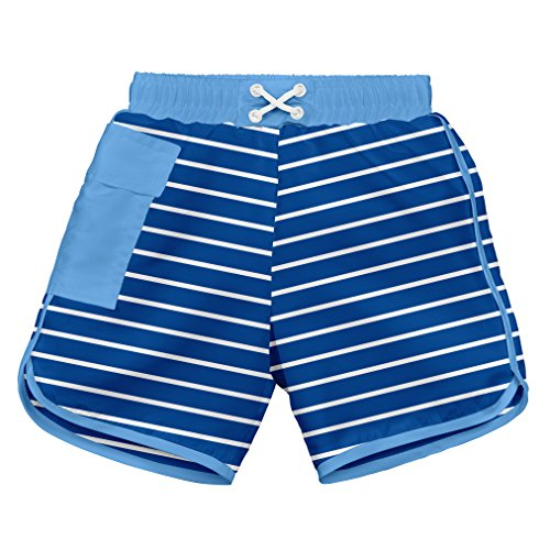 i play. 722185-646-43 Schwimmwindel Board Shorts, 6-12 Monate, Stripe, royal (Neu Jungen Badehose)