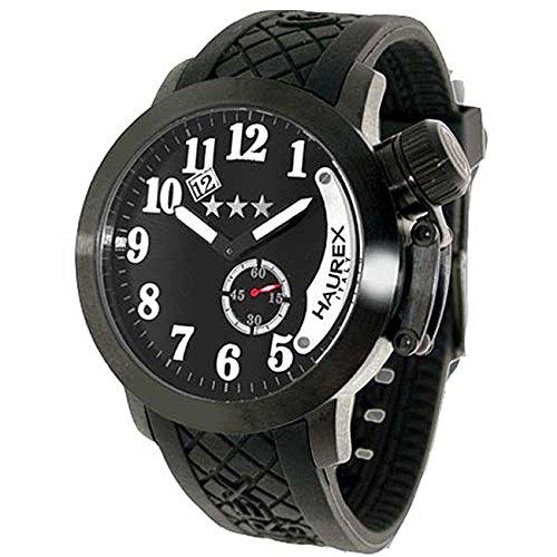 Haurex Italy Men's 1N320UN1 Armata Black dial watch.