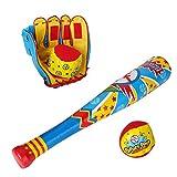 Mazza e Guanto da Baseball e 2 Palline Set Giocattolo per Bimbi
