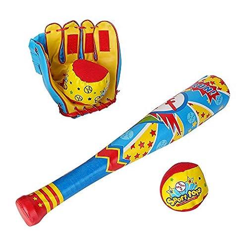 Baseballschläger kinder und Handschuh 2 Bälle Spielzeug Set