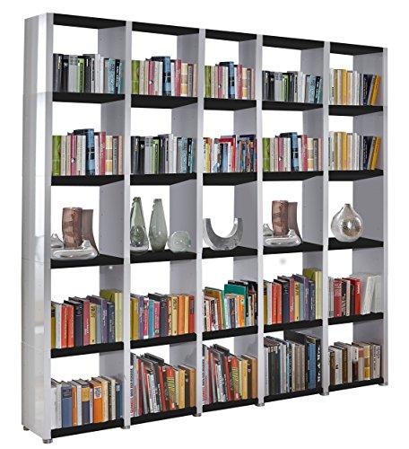 Regalsystem Raumteiler Bücherregal Standregal READY 55 Weiß Schwarz 234 x 232...
