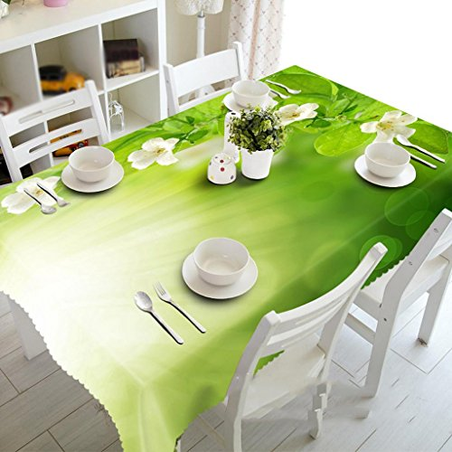 Preisvergleich Produktbild Kleine weiße Blüten, staubdichte 3D Tischdecken, Pad geschmacklos, Digitaldruck, personalisierte Teemaschine Tuch , #1 , 150*260cm