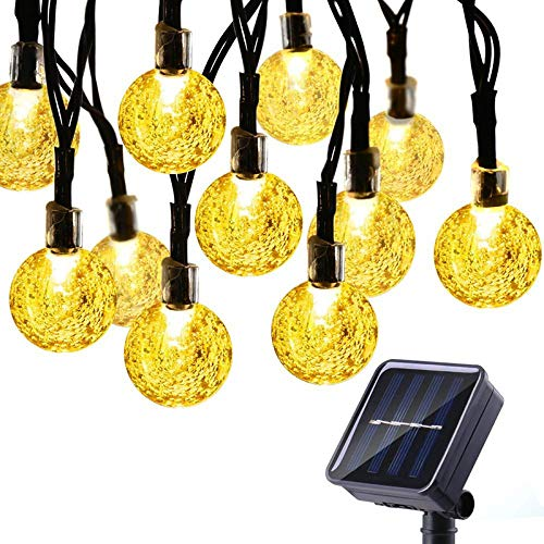 Toran Home Solar Light String 20 LED Outdoor wasserdicht Crystal Ball Fairy Light String Dekoration Garten, Garten, Party, Festival, Hochzeit, Familie,2M/20LEDs