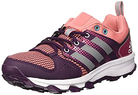 adidas Galaxy, Chaussures de Trail Mixte Adulte, Multicolore (Red Night/Footwear White/Energy Blue), 36 EU