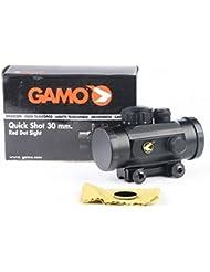 Gamo Tir Rapide red dot BZ 30mm Lunette De Visée inclus couvre-objectif et support rail. Lorsque vous tournez le vision interrupteur,un brillant rouge/orange dot apparaît sur les centre of your portée