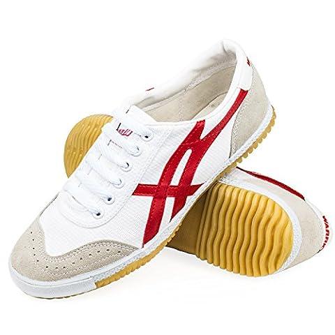WARRIOR Low Cut Sneaker - Kampfkunst - Kung Fu - Wushu - Sport & Parkour - Freizeit - Minimal Schuhe - rot - 39