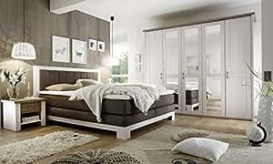 Komplett schlafzimmer boxspringbett nakos kleiderschrank - Komplett schlafzimmer luca ...