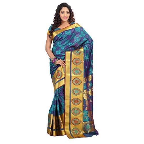 Janasya Women's Multicolor Big Border Art Silk Saree (JNE09178-Multi-SR-JP7103RMV)  available at amazon for Rs.1199