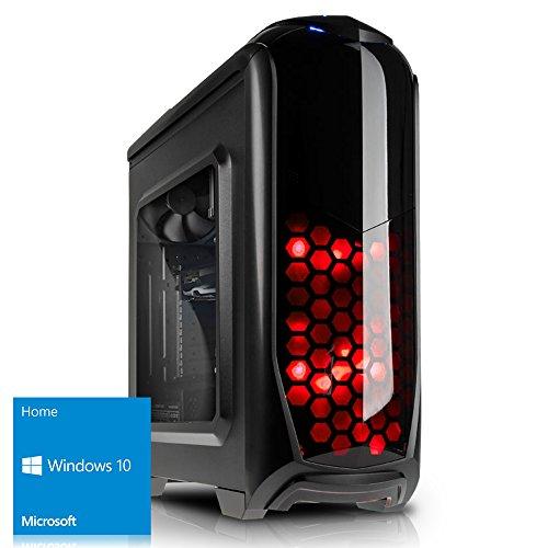 Preisvergleich Produktbild Kiebel Gamer PC 8.0 Intel Core i5 8400 6-Kerner Turbo bis 4.0GHz / 16GB DDR4 / NVIDIA Geforce GTX 1060 6GB / 1000GB / DVD / Sound / LAN / Gaming Computer Spiele Rechner [184495]