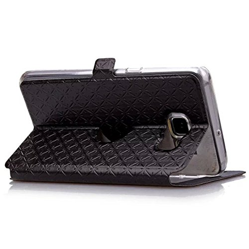 "MOONBAY MALL Leaf Button Pattern Premium Housse en PU Cuir Portefeuille Etui Housse Flip Case pour Apple iPhone 6 Plus / iPhone 6S Plus (5.5"" inch) avec fonction de support - Stylet & film de protecti S-View Noir"