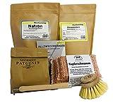 DIY Putz Set - Reiniger selbermachen mit Natron, Zitronensäure, Kernseife und Kupferschwamm