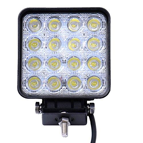 Flut-Lichtstrahl-Licht, quadratischer Scheinwerfer Minkolls 48W Flut-Lichtstrahl-Licht, LED-Arbeitslicht-LKW Jeep-Boots-ATV SUV Lampe des Stra?enladers (Gel-boot Dc)