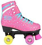 Sell-tex Kinder ROLLSCHUHE 34 35 36 37 38 NEU Discoroller rosa Rollerskates Inliner ABEC-5 (38)