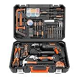 Werkzeugkasten Haushalts-Toolbox-Set Multi-Funktions-Hardware-Tools Elektriker Repair Car Set Spezielle elektrische Bohrkombination