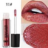 12Colori Rossetto, Beauty Top Perla di metallo Liquido Pennarelli Kit Rossetti Lip Stick Trucco da Labbra (11#)