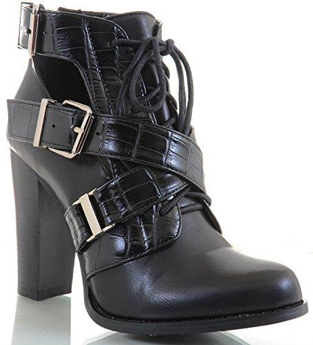 Ankle Fourever E Boots Funky Botas Preta qOOxPa